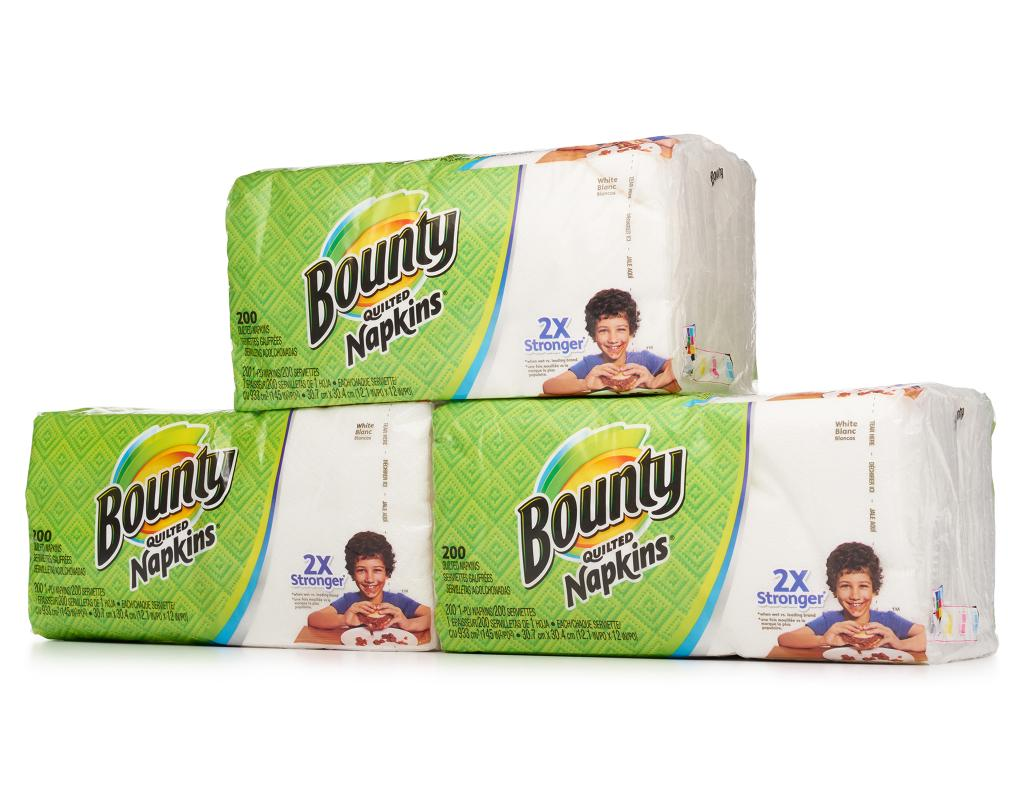 - White 800 ct Bulk Product of Bounty Quilted Paper Napkins Paper Towels /&