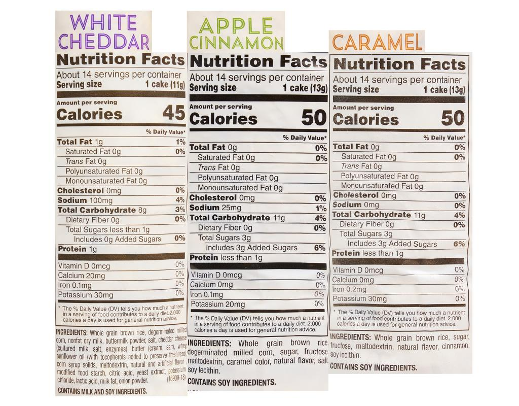 Calories In Quaker Caramel Rice Cakes