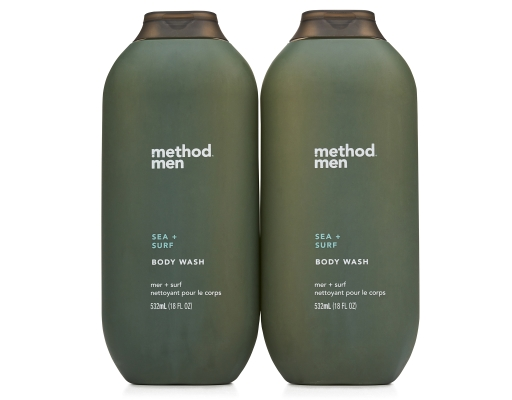 Method Men Body Wash 2 X 18 Oz Sea Surf Boxed