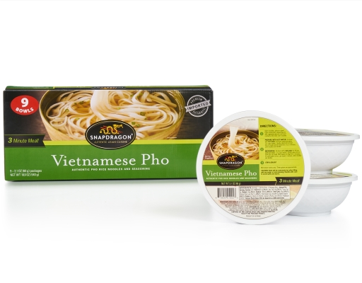 Snapdragon Vietnamese Pho Bowl 9 X 2 1 Oz Pho Rice Noodles And Seasoning Boxed
