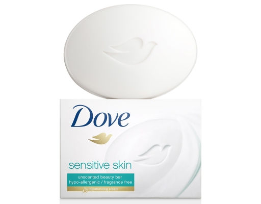 Dove Sensitive Skin Beauty Bar 16 X 3 75 Oz Unscented Boxed
