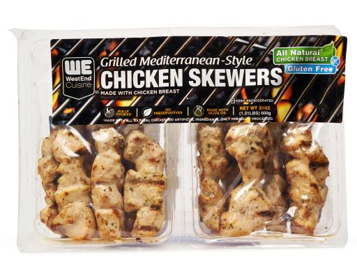 West End Cuisine Grilled Chicken Skewers 21 Oz Boxed