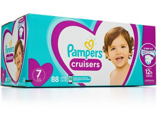 Size 7 Diapers, 88 count