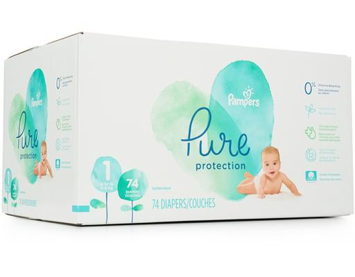 Pampers Pure Diapers - Size 1